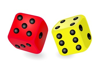 dice die colors backgammon red yellow