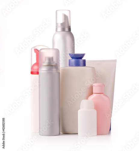 bottles of  products