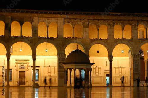 mosquée damas nuit