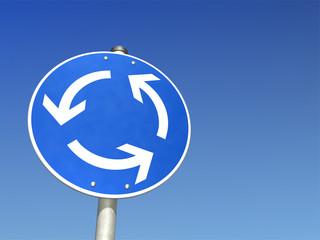 Schild Kreisverkehr
