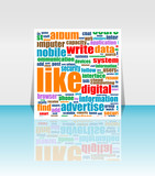 Social media Marketing - Word Cloud - Flyer or Cover Design