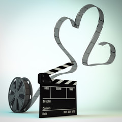 Heart shape film reel