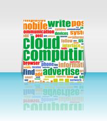 Cloud computing concept design - Flyer or Cover Design