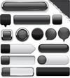Black high-detailed modern buttons.