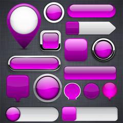 Purple high-detailed modern buttons.