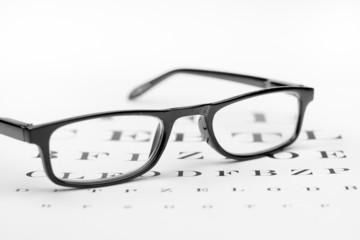 schwarze Brille mit Buchstabentest 2