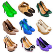 Multicolored female shoes-12