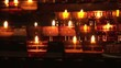 Candels burning in the church