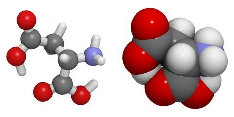 Aspartic acid (Asp, D) molecule