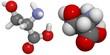 Serine (Ser, S) molecule. Serine is a non-essential amino acid.