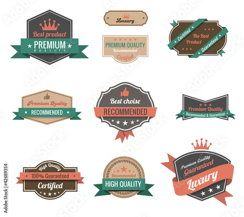 Vintage labels set. Logo oldstyle. Vintage collection.