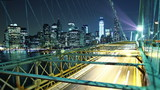 city traffic on Brooklyn bridge. Time lapse and loopable