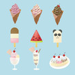 Fancy ice creams with 9 different look