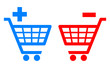 Shopping cart signs, add and remove