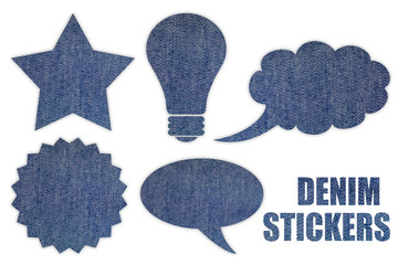 Denim stickers set