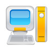 vector icon computer