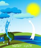 Fototapety Water cycle