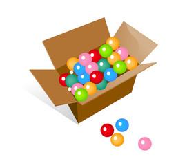 vector icon balls in the box