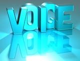 3D Voice Blue Text poster
