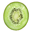 single slice of kiwi fruit isolated on white background