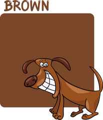 Color Brown and Dog Cartoon