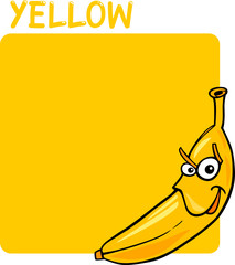 Color Yellow and Banana Cartoon
