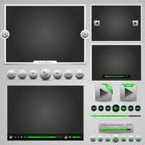 player web elements, green design, hugh set poster