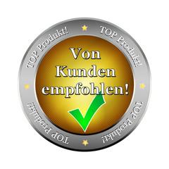 von kunden empfohlen web shop button