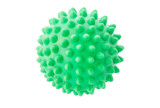The green sphere with spikes.