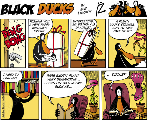 Keuken foto achterwand Comics Black Ducks Comics episode 74
