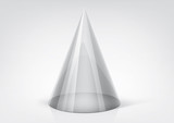 Vector transparent cone for your graphic design