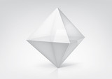 Fototapety Vector transparent octahedron for your graphic design