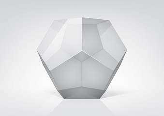 Vector transparent  dodecahedron for your graphic design