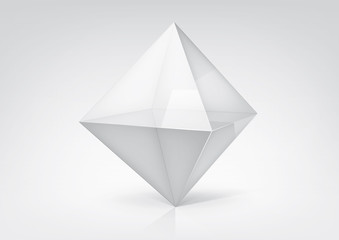 Vector transparent octahedron for your graphic design