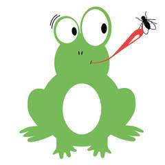 Frosch mit Fliege 2