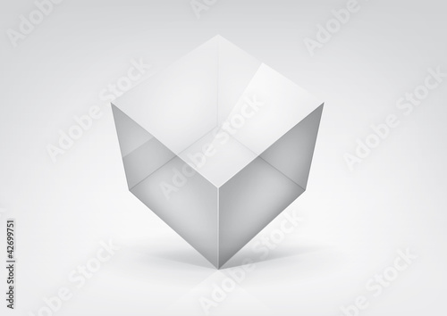 Vector  transparent cube for your graphic design