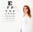 Friendly female optician