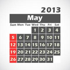 calendar 2013.May