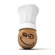 Happy gourmet egg