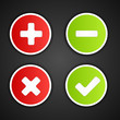 Satin web 2.0 button validation icons.