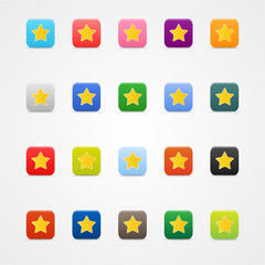 Star sign in squere web button.