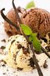 Vanilleeis mit Schokolade