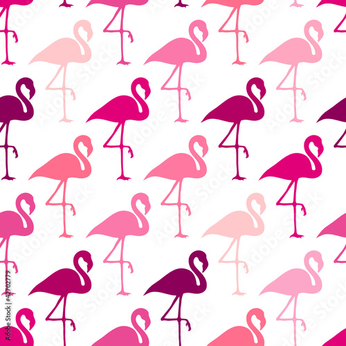 Seamless Pattern Pink Flamingos © Jan Engel