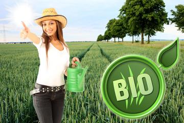 Bio-Anbau Bäuerin
