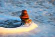 Turm aus Steinen in der Welle