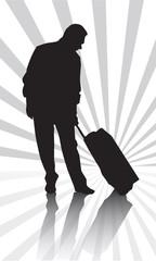 is adamı bavul uçak seyahat