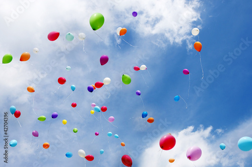 Luftballons, toy balloons, Copy space