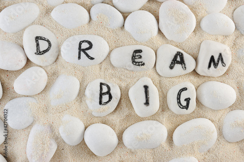 Dream big words