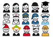 profession vector people icon set
