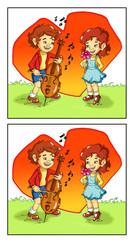gioco delle differenze, la serenata